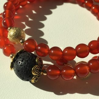 Energise gemstone bracelet with essential oils