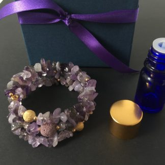 Gemstone bracelet with essential oils