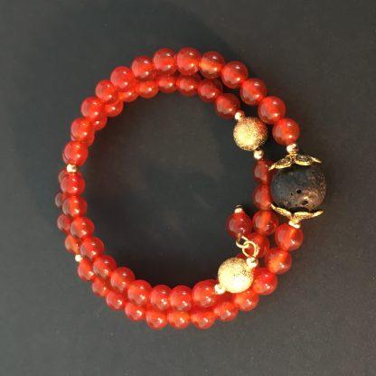 Aromatherapy mood bracelet
