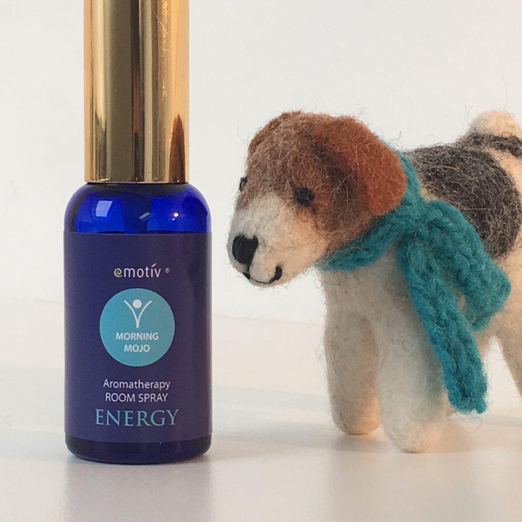 Energising aromatherapy room spray