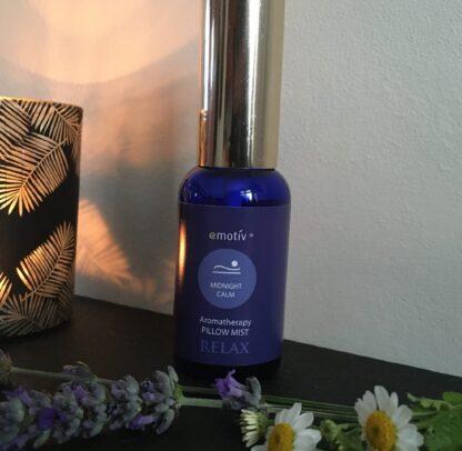 MIDNIGHT CALM aromatherapy pillow mist by Emotiv Aromatherapy